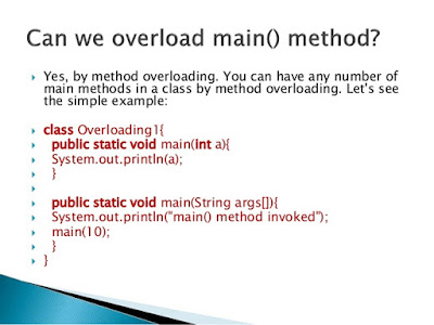 Main method can be overloaded but cannot overridden in Java