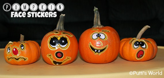Pumpkin Faces With Stickers