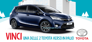 Logo Parti con gusto e con Granarolo vinci 2 Toyota Verso