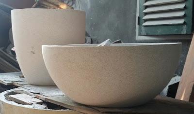 hasil gambar untuk Pot teraso model mangkok