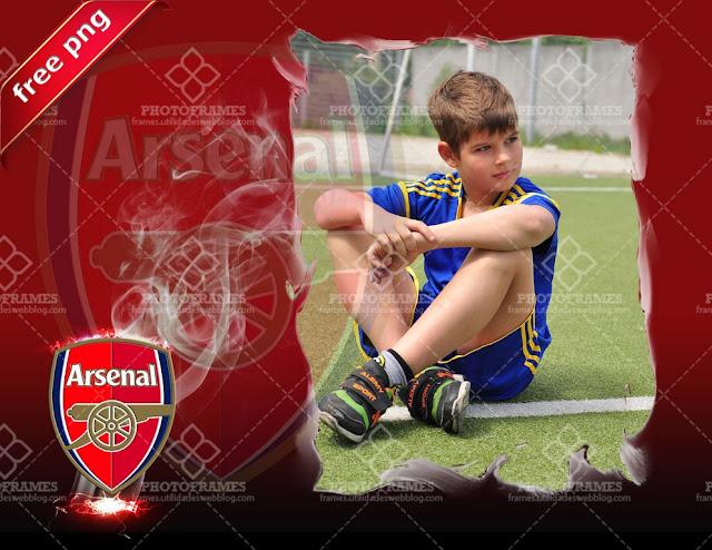 Marco para fotos inspirado en el Arsenal FC