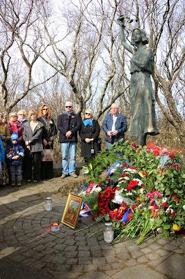 70-летие Победы в Исландии. У монумента Надежда