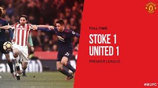 Mourinho Kecewa MU Kembali Diimbangi Stoke City