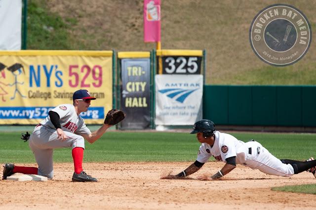 MiLB Photos: GAME 1, Auburn Doubledays @ Tri-City ValleyCats, July 26, 2018, Joseph L. Bruno Stadium, Troy, NY