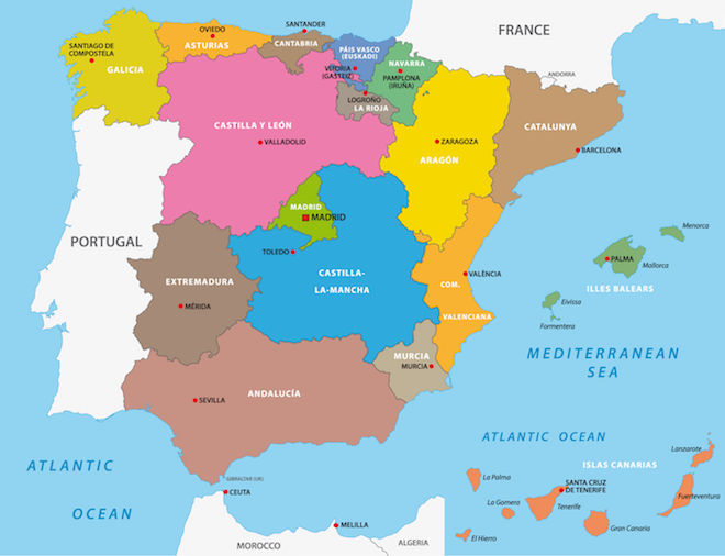 Map Of Spain Vineyards.French Wine Regions And History Grapes Grains