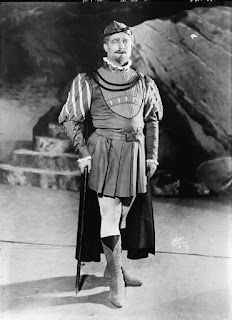 Martinelli on stage in a production of  Rossini's opera William Tell
