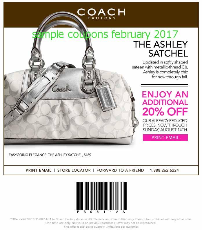 Coach purse coupons online