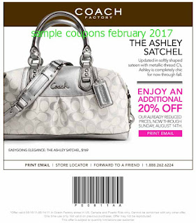 free Coach coupons february 2017