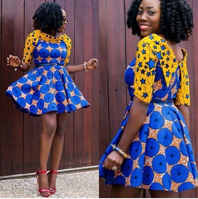 Creative Ankara Short Gown Dress Dezango Fashion Zone