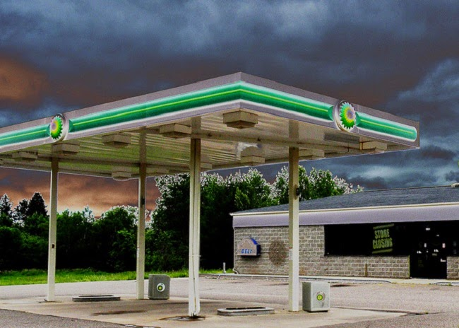 Lots of petrol stations closing down is not something BP envisages happening in the next 20 years. (Credit: John W. Iwanski via Flickr) Click to Enlarge.