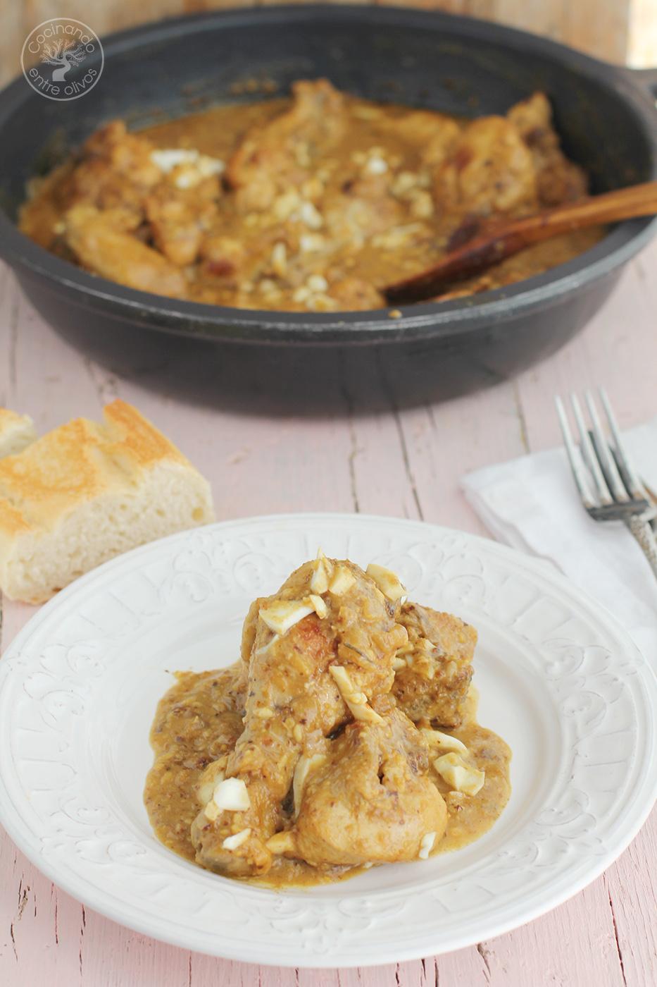 Cómo Hacer Pollo En Pepitoria Receta Paso A Paso Cocinando Entre Olivos