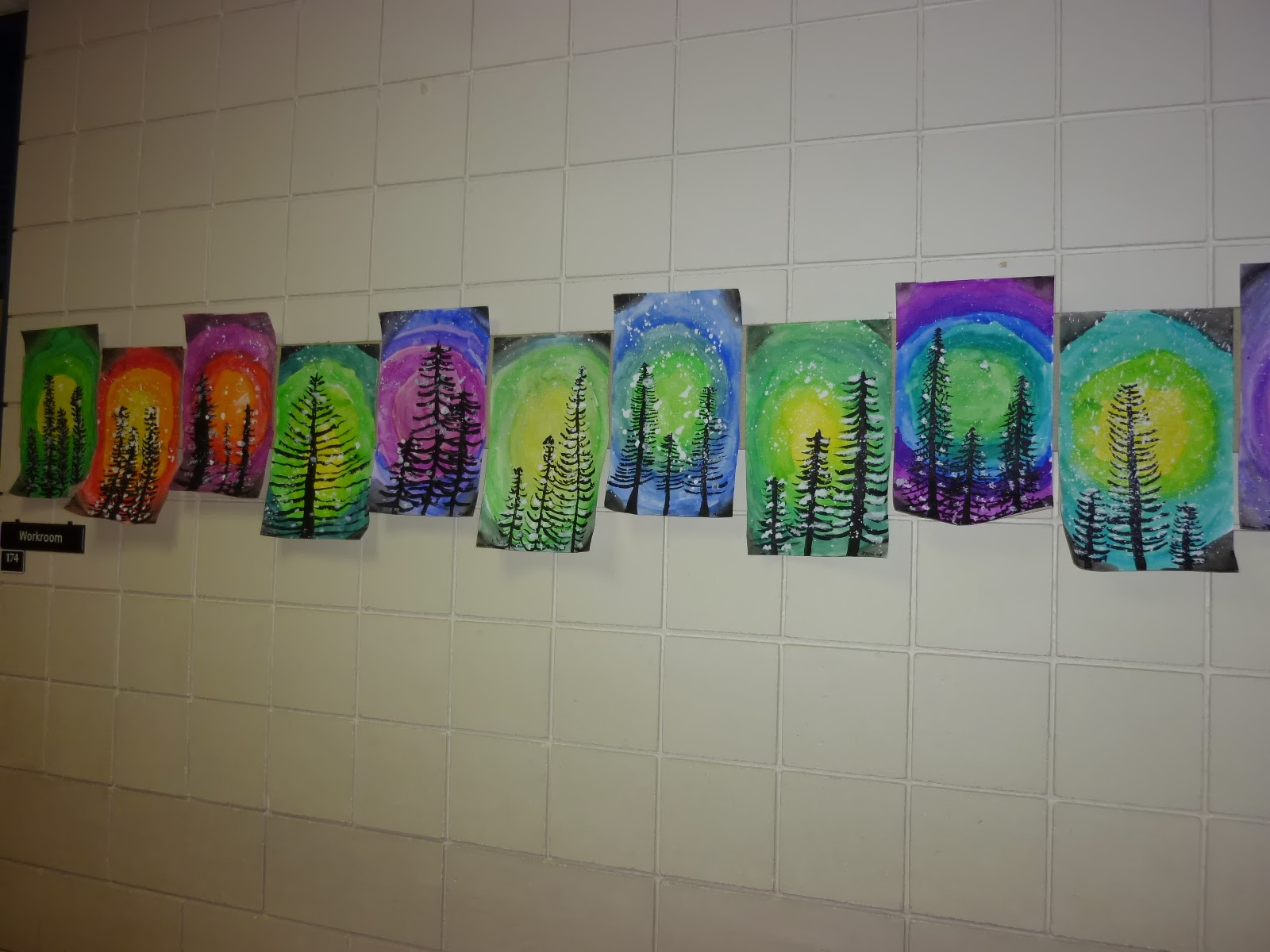 Mrs werner 39 s art room 4th grade winter paintings for Elementary christmas craft ideas