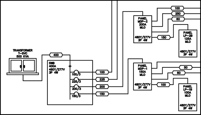 one line diagram electrical system