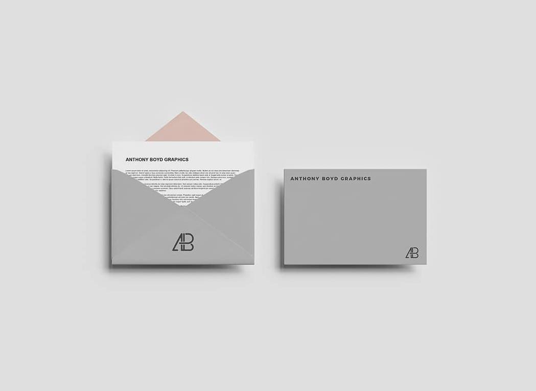 Top View Envelope Letter Mockup