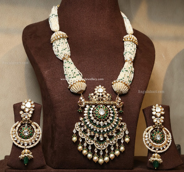 Nizam Style Pearl Necklace Earrings