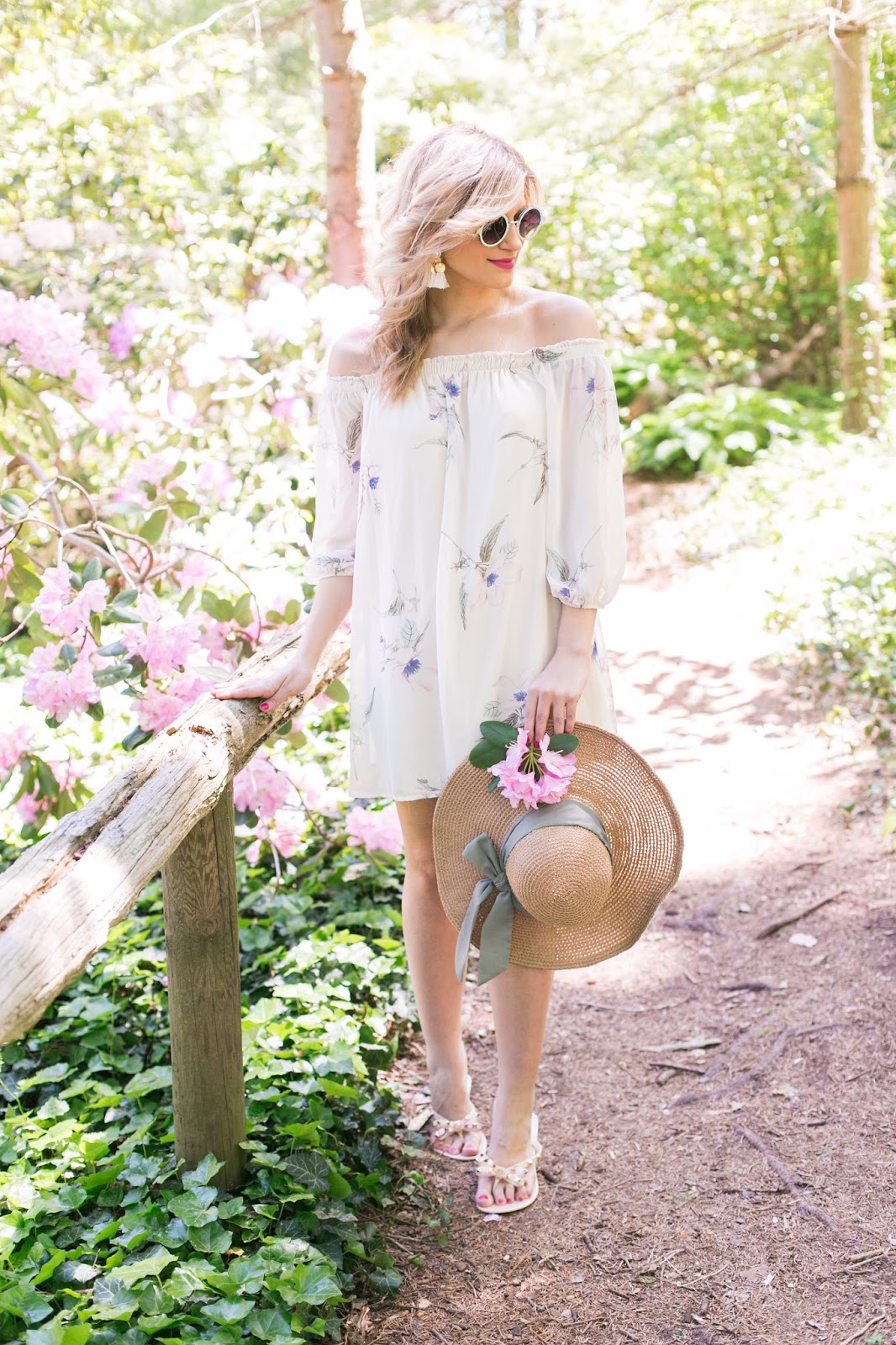 Bijuleni - Off the shoulder floral dress #ootd