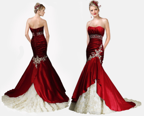 Muhlisah: Bridal Gowns With Red
