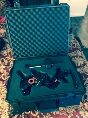 Foam cutout for Celestron AVS mount in Pelican Case (Source: Palmia Observatory)
