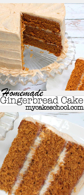 Gingerbread Cake (Scratch) with Spiced Cream Cheese Frosting