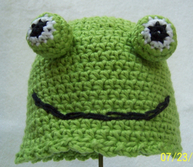 Free Crochet Patterns Free Crochet Pattern Crazy Frog Hat For
