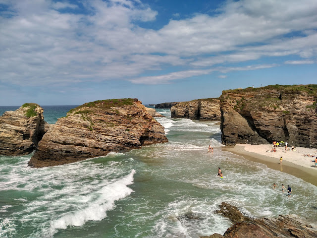 Visit Cathedral Beach on our Camino Bike Trip in Spain