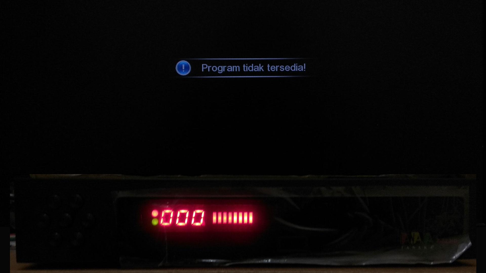 Cara Memperbaiki Tanaka Topas TV Program Tidak Tersedia