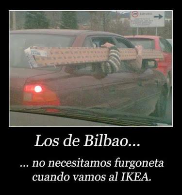 Los de Bilbao no necesitamos furgoneta cuando vamos al Ikea