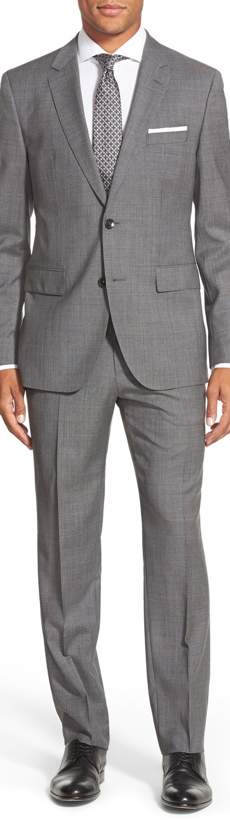 BOSS 'Johnston/Lenon' Trim Fit Solid Wool Suit