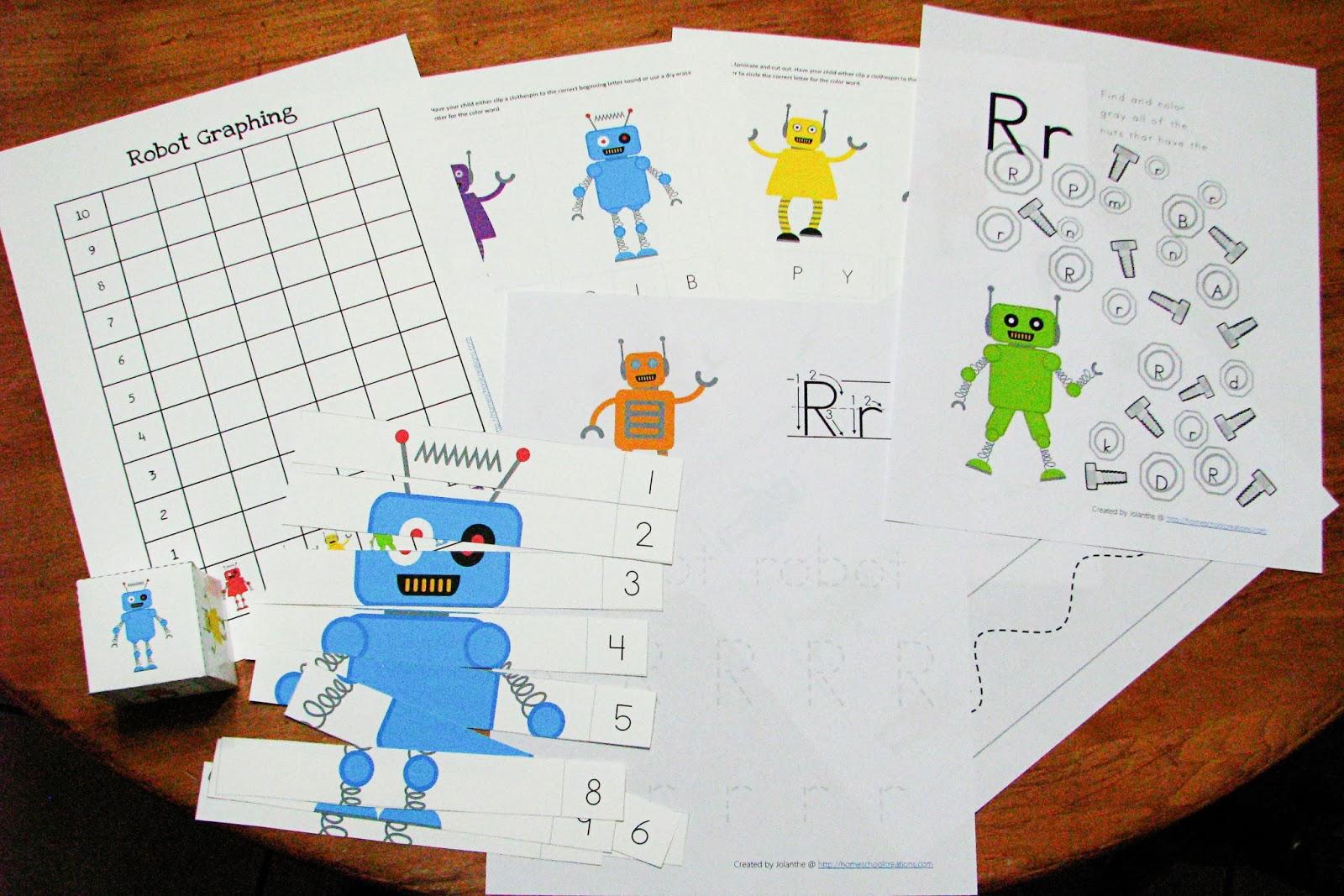 Mommy S Little Helper Letter R Robot Preschool Theme