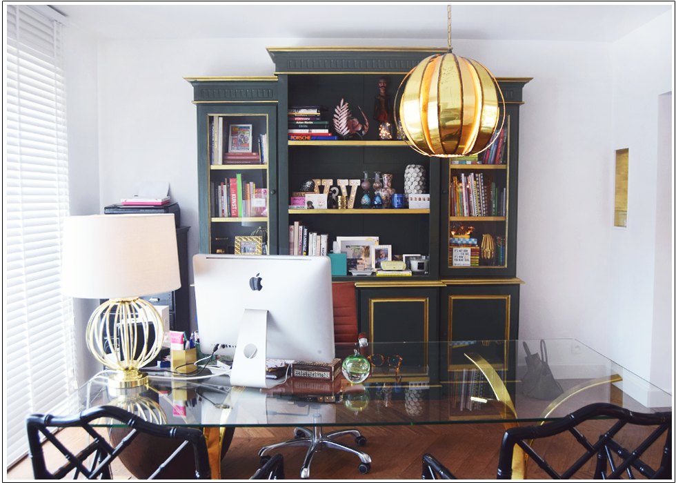 Interior, office, eclectic, color, bold, Paris,