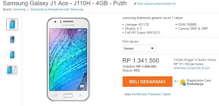 Harga Samsung Galaxy J1 Ace 4G Android murah 1 jutaan