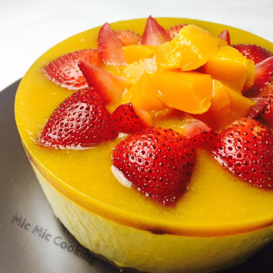Mic Mic Cooking: 芒果芝士蛋糕 [Mango Cheesecake]
