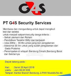 Lowongan kerja G4s Bandung 2019