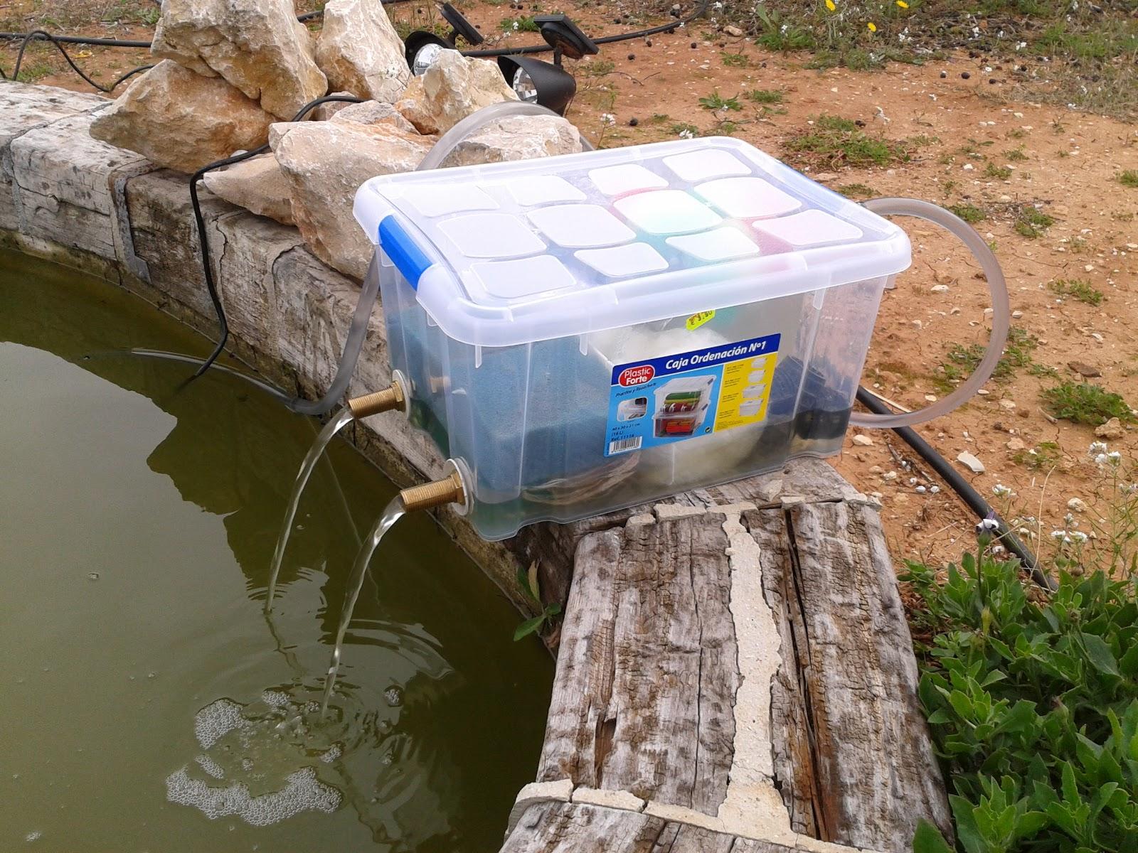 Pelki blog filtro para estanque for Fabricar estanque