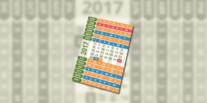 Calendario Reducido 2017
