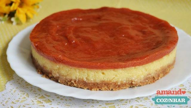 Cheesecake de goiabada romeu e julieta fácil