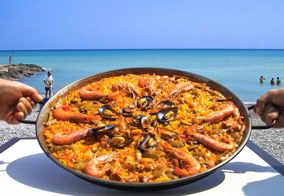 A Paella on the beach, Valencia