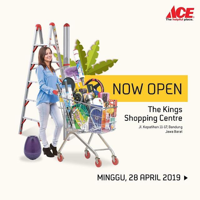#AceHardware - #Promo Opening Hemat 50% di Kings Shopping Center Bandung (s.d 05 Mei 2019)