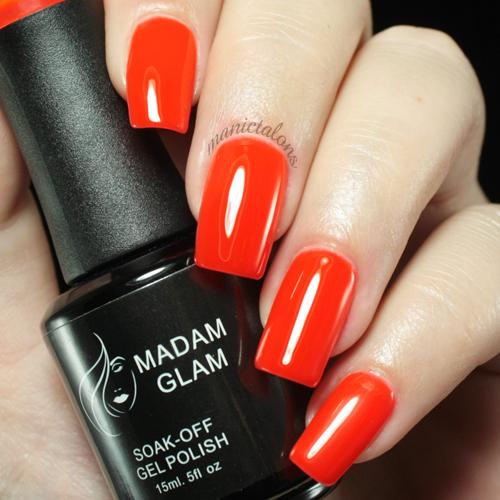 Madam Glam UV Gel 003 Blood Orange Swatch
