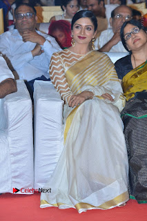 Actress Vimala Raman Stills in White Silk Saree at Om Namo Venkatesaya Audio Launch Event  0005.JPG