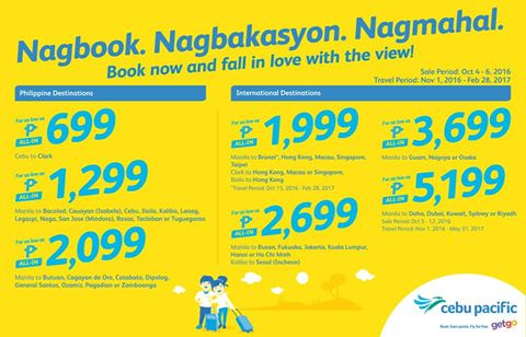 Cebu Pacific Air SEAT SALE Promo