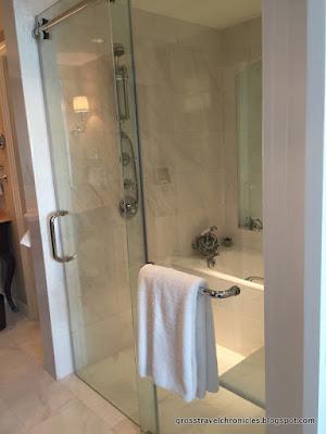 Shower and soaking bath tub