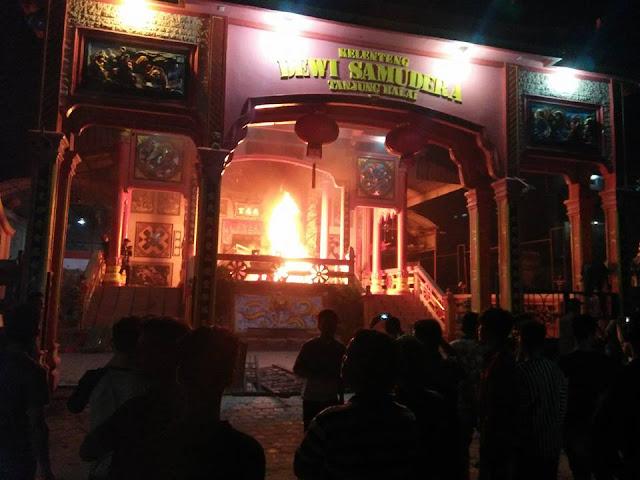 Salah satu vihara yang dibakar saat kerusuhan di Tanjungbakai.