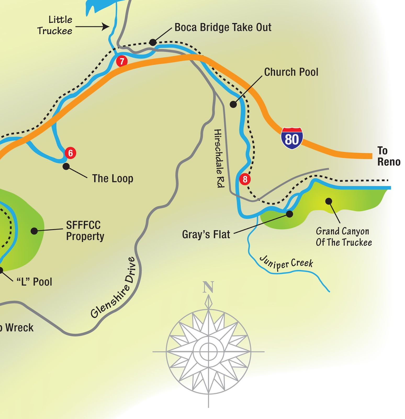 Truckee River Fishing Map Jon Baiocchi Fly Fishing News: Truckee Trout Unlimited Outreach