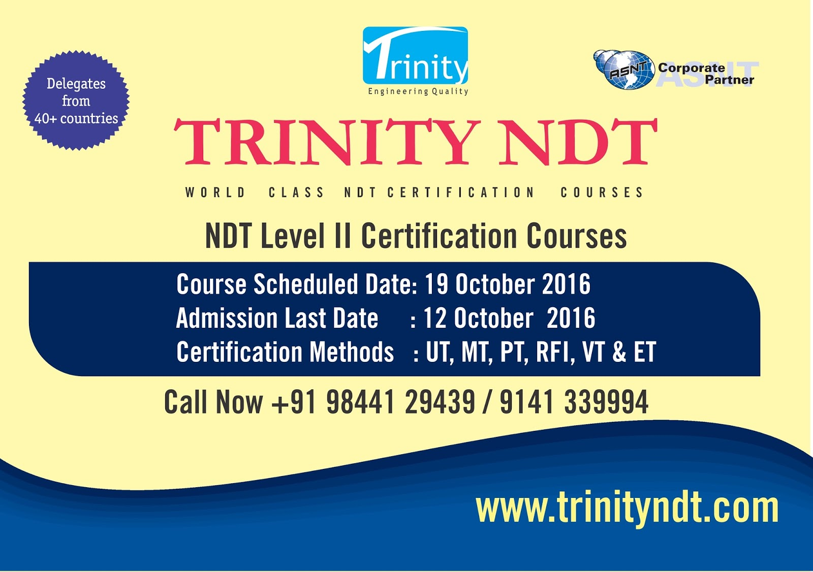 Nabl Ndt Labs Ndt Welding Inspection Training Chennai Mumbai Kerala