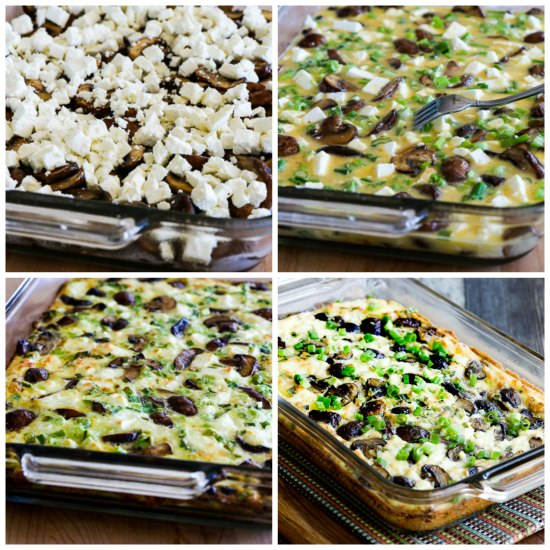 Low-Carb Mushroom and Feta Breakfast Casserole found on KalynsKitchen ...