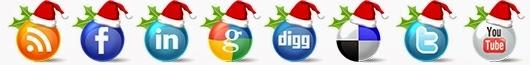 iconos sociales navidad