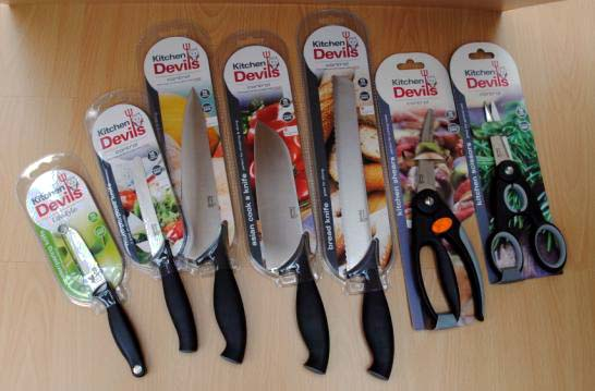Giveaway kitchen devils peeler paring knife for Kitchen devil knife set 9