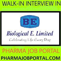 Biological E Limited Walk In Interview For M.Sc, B.Pharm, M.Pharm,  B.Tech, M.Tech - Apply Now