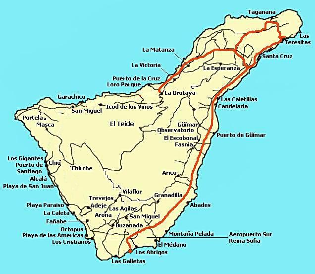 Ile de Tenerife - Voyages - Cartes